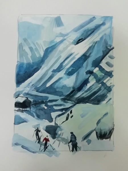 Lucy Smallbone, Skiers, 2020
