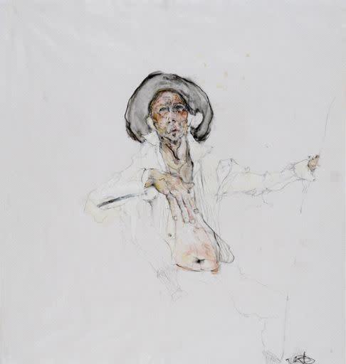 Kris Hargis, Self at Easel, 2007