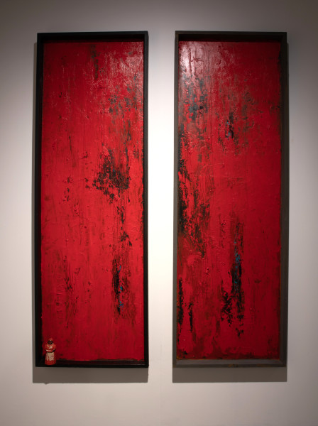 Willie Little, Jemima Red Diptych, 2014