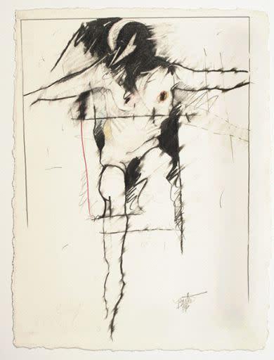 Rick Bartow, Raven & Man, 1986
