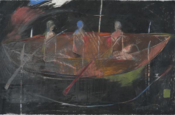 Rick Bartow, The Vessel Needn't Move (From a Ritual), 1991