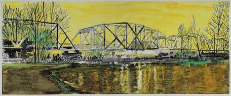 Lli Wilburn, Yellow Hayden Island Railroad Bridge, 2011