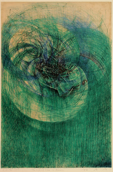 Takahiko Hayashi, D-3.Mar.2019 The Life of the Lines in Green, 2019