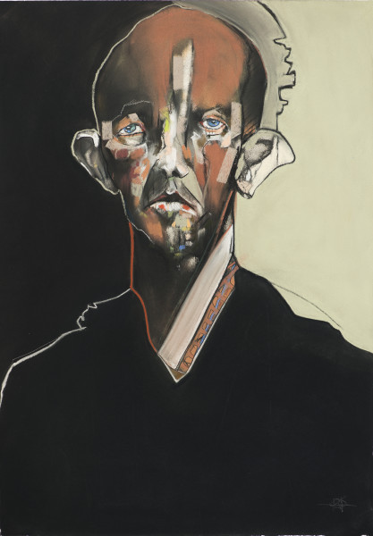 Kris Hargis, Self in Black Coat, 2019