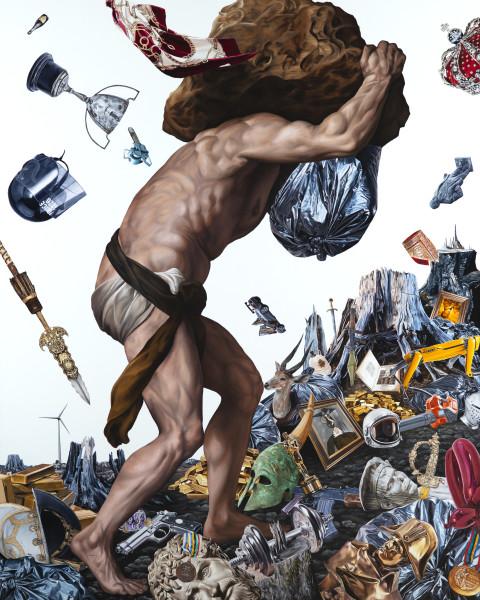 Jake Scharbach, Sisyphus, Titian, 1548, 2020
