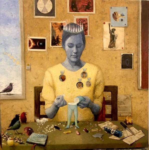 Katherine Ace, Future Artist Re-creating BioViable Human Using Metadata or the Magician, 2020