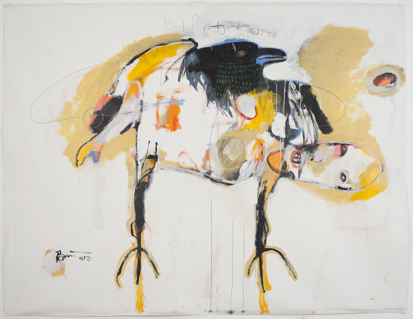 Rick Bartow, Bird Bird Bird Crow Crow, 2013