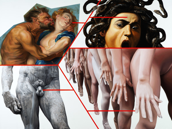 Jake Scharbach, Medusa, Caravaggio, 1589; Diana and Her Nymphs on the Hunt, Rubens, 1628; David, Michaelangelo, 1504; RealDoll Launches AI Sex Dolls, KPBS, Beth Accomando, 2020