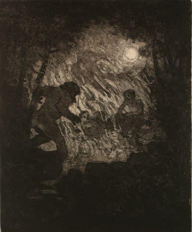 Gabriel Liston, Wilde visits the miner's hot spring, 2012