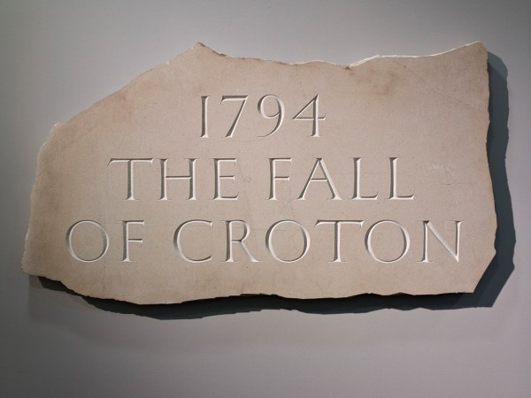 Ian Hamilton Finlay, 1794 The Fall of Croton, 1994