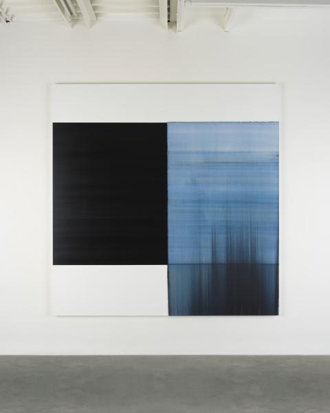 Callum Innes, Exposed Painting Delft Blue, 2018