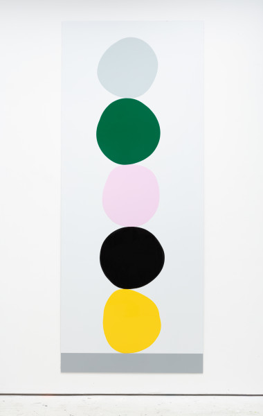 David Batchelor Multi-Colour Chart 37, 2018 gloss and spray paint on Dibond 291 x 118 x 3 cm