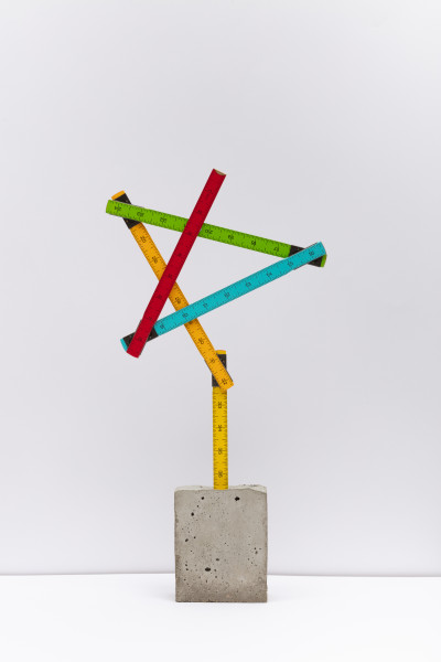 David Batchelor Alt-Concreto 18, 2018 wooden ruler and concrete 47.5 x 24 x 5 cm