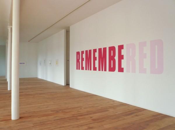 Kay Rosen, Memory of Red, 2008