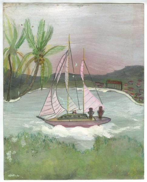 Frank Walter, Sailboat with Pink Sails