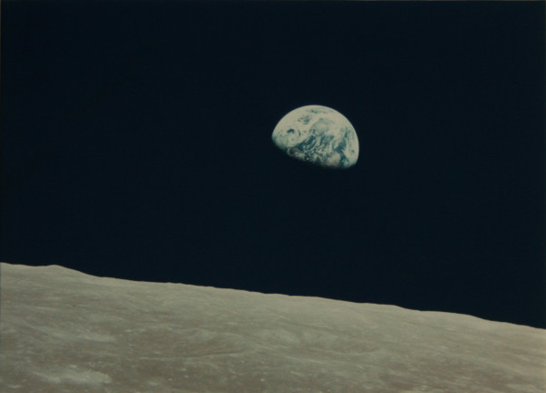 NASA (Crew of Apollo 8 - Bill Anders) Earthrise, 24 December 1968 vintage chromogenic print published by NASA 18 x 24 cm (image)38 x 43.5 cm (framed)
