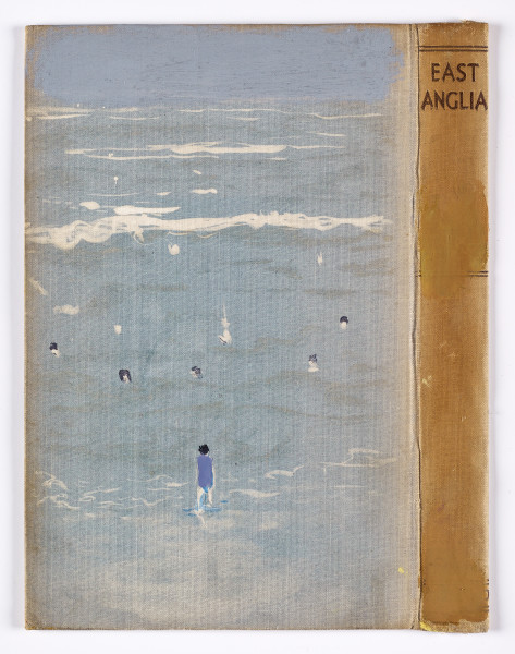 Andrew Cranston Swimming with Lynda, 2018 watercolour and bleach on hardback book cover 21.5 x 16.5 cm 8 1/2 x 6 1/2 in