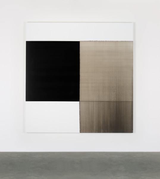 Callum Innes, Exposed Painting Lamp Black / Asphalt, 2017