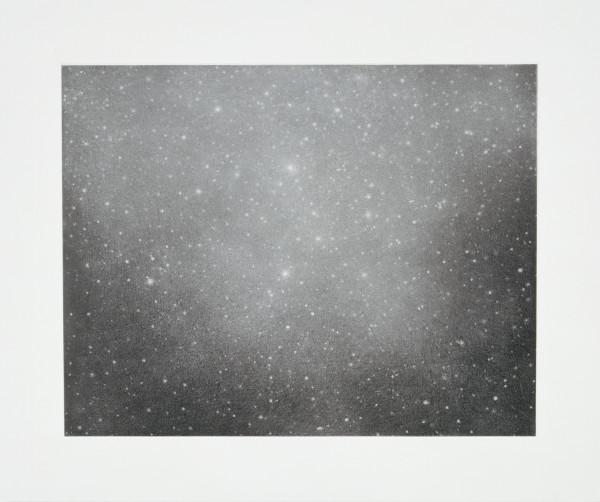 "Vija Celmins Night Sky 3, 2002 single colour print with photogravure, aquatint & drypoint 50.17 x 60.33 cm19 3/4"" x 23 3/4"" (paper size) edition of 65"