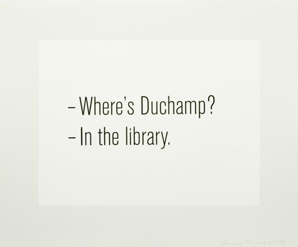 Bethan Huws, Where's Duchamp?, 2011