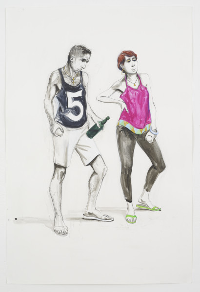Charles Avery, Untitled (Two Bowlers), 2018