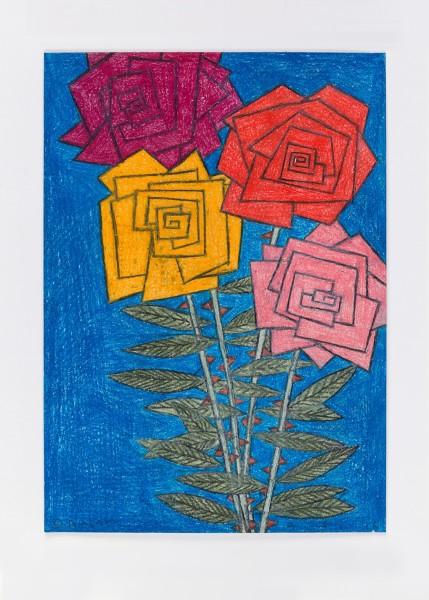 David Austen, Untitled (night flowers) 9.5.16, 2016