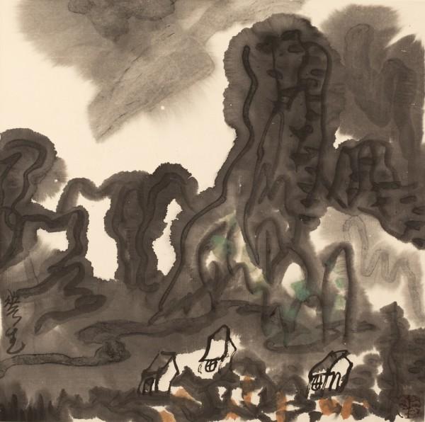 Li Huasheng 李华生, Mountains of Sichuan Album No. 1 (2)蜀山册 之一(2), 1990