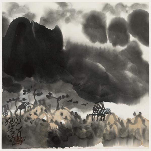 Li Huasheng 李华生, Mountains of Sichuan Album No. 1 (7)蜀山册 之一(7), 1990