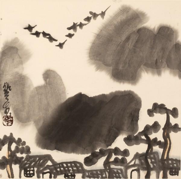 Li Huasheng 李华生, Mountains of Sichuan Album No. 1 (4)蜀山册 之一(4), 1990