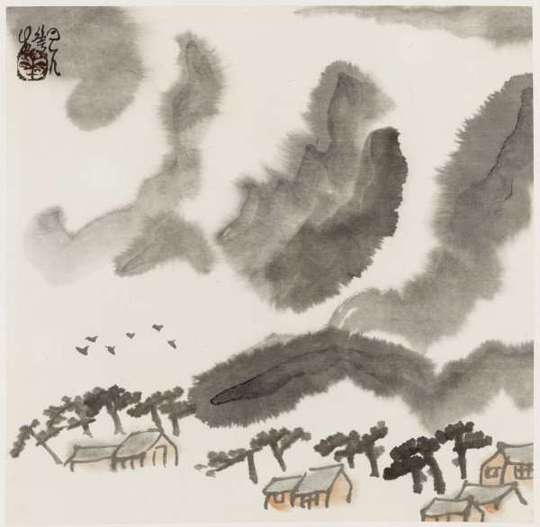 Li Huasheng 李华生, Mountains of Sichuan Album No. 1 (6)蜀山册 之一(6), 1990