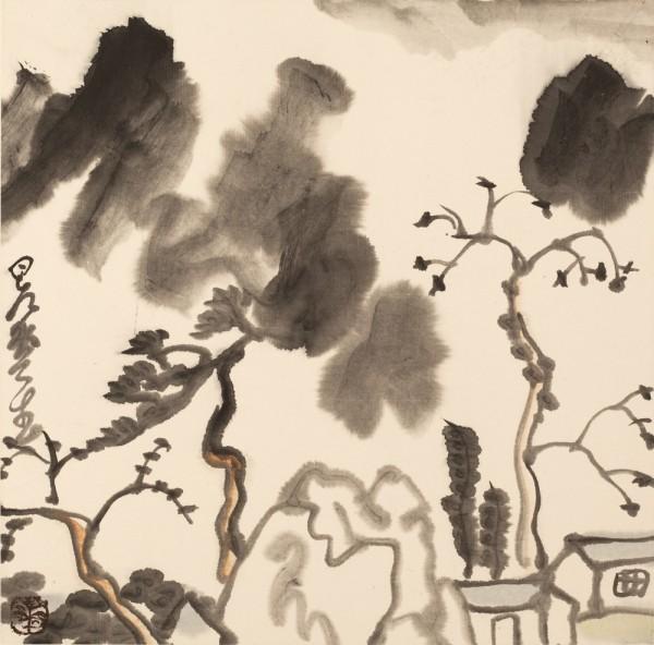 Li Huasheng 李华生, Mountains of Sichuan Album No. 1 (5)蜀山册 之一(5), 1990