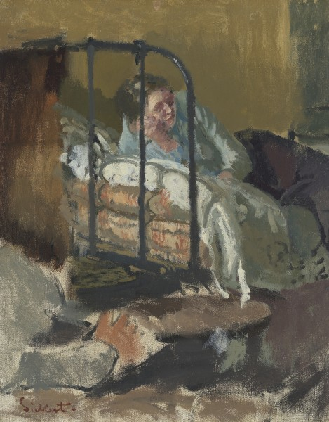 Walter Richard Sickert Reverie, c. 1915-16. oil on canvas 20 x 16 in / 50 x 40 cm