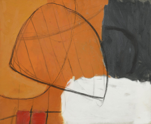 Roger Hilton May '61, 1961 oil on canvas 25 x 30 in / 63 x 76 cm