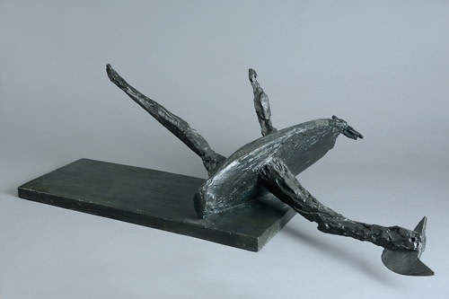 Bernard Meadows Fallen Bird, 1958 Bronze Signed on base l: 101 cm / 40 in
