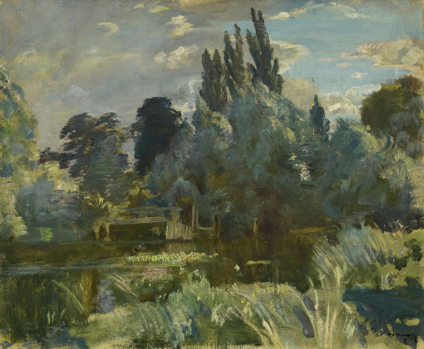 Alfred Munnings Langham on the Stour oil on canvas 20 x 24 in / 51 x 61 cm