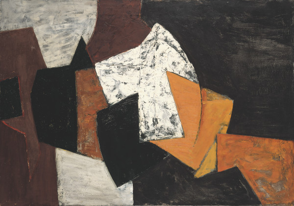 Composition: Black, Brown, Orange and White, 1955
