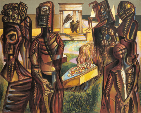 Merlyn Evans The Entombment, 1942 oil on canvas 39 x 50 in / 99 x 127 cm