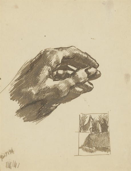 Stanley Spencer The Artist's Left Hand, 1913 Ink on paper 11 x 8 in / 27.9 x 20.3 cm