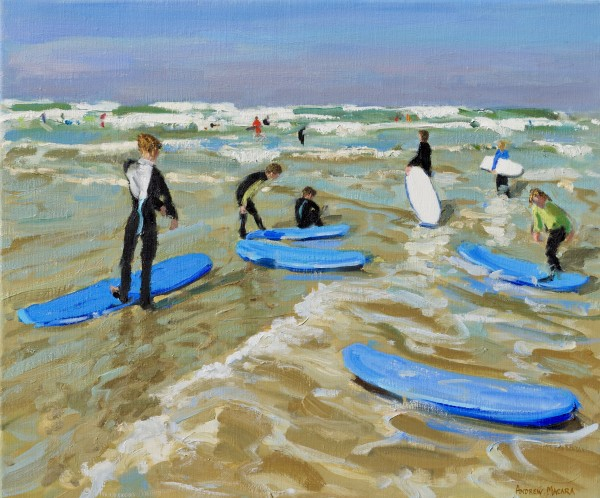 Andrew Macara, Blue surf boards, Bude