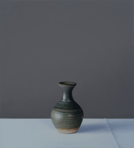 Jo Barrett, Still Life of Small Green Vase