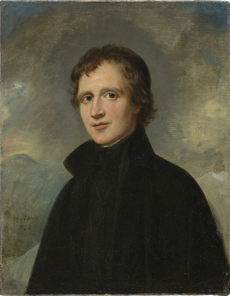 Charles Louis Bazin Portrait d'homme Signed and dated 1836 Oil on canvas 9.45 x 7.48ins (24 x 19cm) (artwork size) 11.65 x 9.57ins (29.6 x 24.3cm) (framed size)