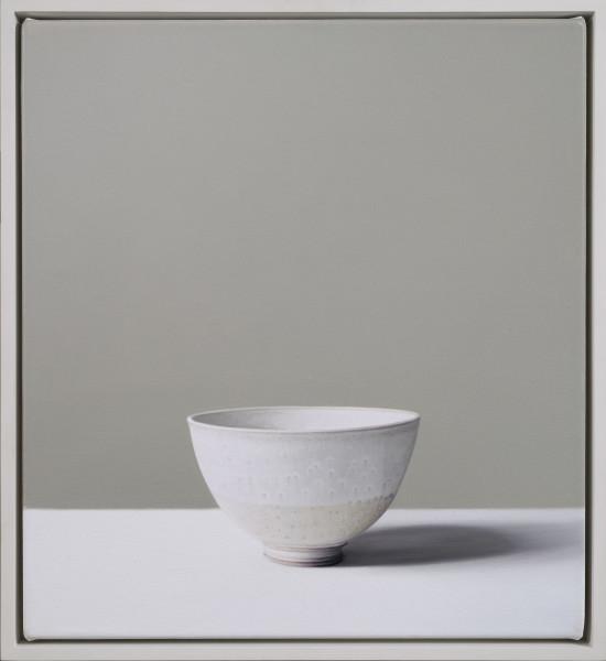 Jo Barrett, Still Life of Stoneware Bowl with Dolomite Glaze