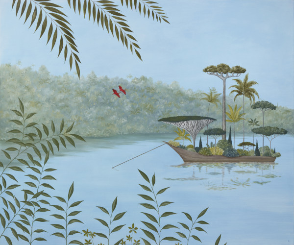 Rebecca Campbell Botanist's Bounty Oil on linen 39.37 x 47.25ins (100 x 120cm)