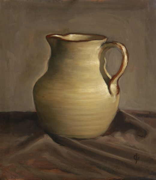 James Gillick, Earthenware Jug on Grey Background, 1997