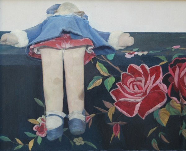 Susan Angharad Williams, Doll on a patterned shawl