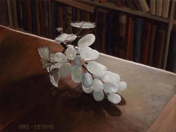 Harry Steen  Jade Grapes  Oil on board  9 x 12ins (22.9 x 30.5cm)