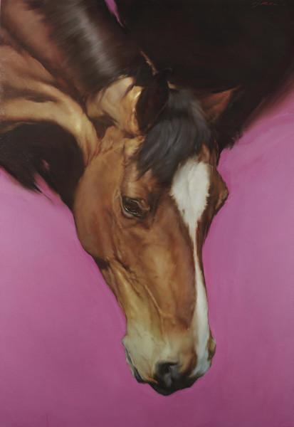 Austin, J, Michael Equus VII Oil on canvas 51.18 x 35.43ins (130 x 90cm)