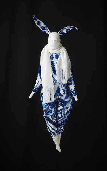 Alice Mary Lynch  Midnight Blue  29.5 x 9.9 x 4ins (75 x 25 x 10cm) (artwork size)  (unframed)