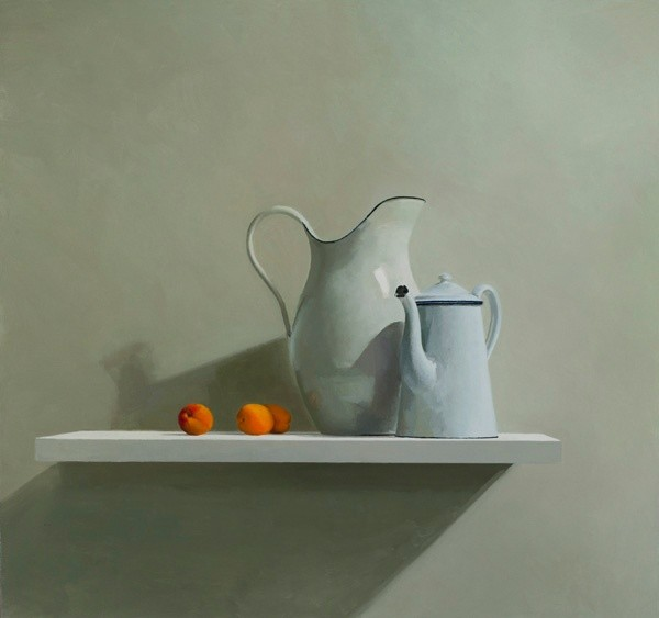Helen Simmonds, Two Jugs Three Apricots