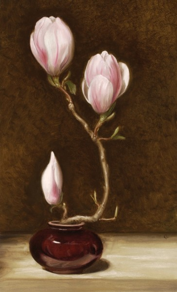James Gillick, Three Magnolia Blooms, 2003